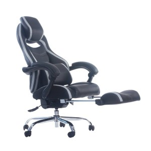 1.MERAX RACING STYLE EXECUTIVE PU LEATHER SWIVEL CHAIR WITH FOOTREST AND BACK SUPPORT RECLINING
