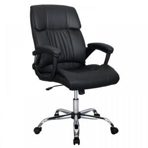 11.BestOffice Black PU Leather Ergonomic High Back Executive Best Desk Task Office Chair