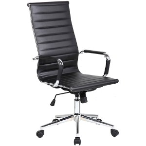9.2xhome Eames Modern High Back Ribbed Office Chair