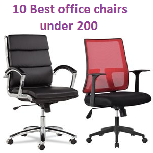 Top 10 Best Office Chairs Under 200 Of 2018 Complete Guide