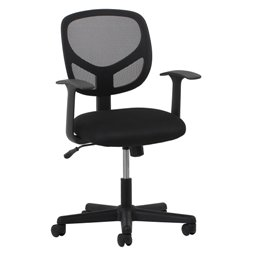ESSENTIALS SWIVEL MID BACK MESH TASK CHAIR WITH ARMS