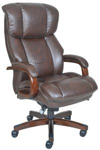 11. La-Z-Boy Fairmont Big _ Tall Executive Bonded Leather Office Chair