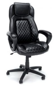 13. Essentials by OFM High-Back Racing Style Leather Executive Office_Computer Chair