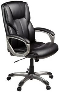 15. AmazonBasics High-Back Executive Chair
