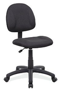 3. BOSS OFFICE PRODUCTS B315-BK PERFECT POSTURE DELUX FABRIC TASK CHAIR