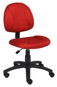 5. BOSS OFFICE PRODUCTS B325-RD PERFECT POSTURE DELUX MICROFIBER TASK CHAIR WITHOUT ARMS