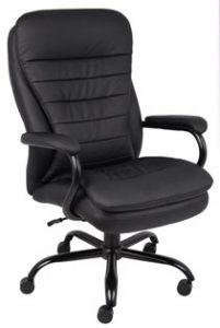 8. Boss Office Products B991-CP Heavy Duty Double Plush LeatherPlus Executive Chair