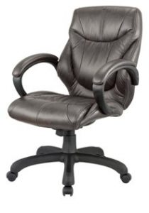 Nicer Furniture Genuine Leather Middle Back Executive Chair