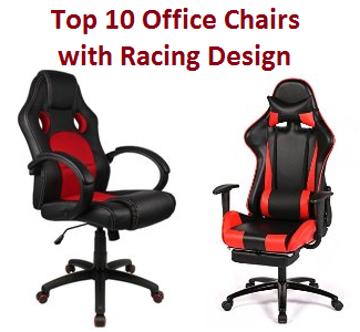 Top 10 best office chairs with racing design in 2018 for Office design top 10