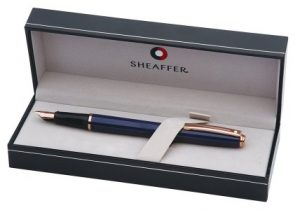 Sheaffer Prelude Cobalt Blue Lacquer Fountain Pen with Fine Nib (E0914343)