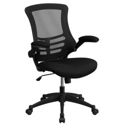 MESH TASK OFFICE CHAIR WITH FLIP UP ARMS