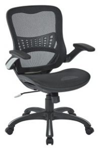 OFFICE STAR MESH BACK SEAT, 2-TO-1 SYNCHRO LUMBAR SUPPORT MANAGERS CHAIR