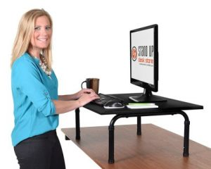 "32"" Wide Adjustable Height Standing Desk – Convert your desk to a standing desk"