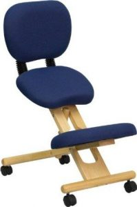 Flash Furniture Wooden Ergonomic Kneeling Chair with Reclining Back