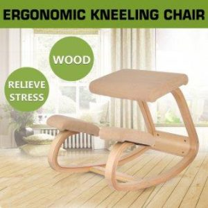 Happybuy Wooden Ergonomic Kneeling Chair