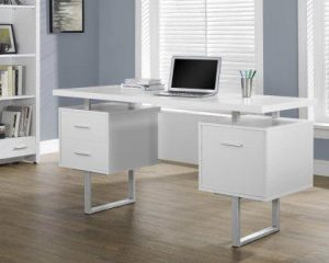 Monarch Specialties White Hollow-Core Office Desk