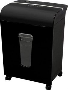 Sentinel FM120P 12-Sheet High Security Micro-Cut PaperCDCredit Card Shredder with Pullout Basket, Black