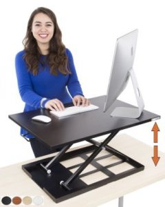 Standing Desk – X-Elite Pro Height Adjustable Desk Converter – Size 28in x 20in Instantly Convert any Desk to a Sit Stand up Desk (Black)