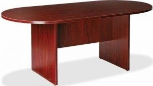 Lorell Oval Conference Table in Mahogany