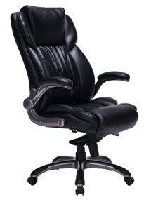 Viva Office High Back Bonded Leather Executive Chair With Flip Up Arms