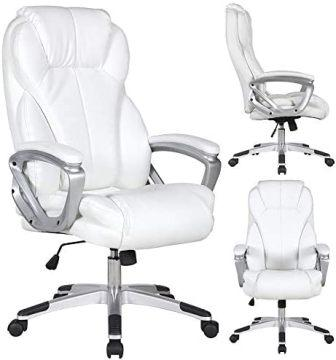 2xhome Deluxe Professional PU Leather Big and Tall Ergonomic High Back Chair
