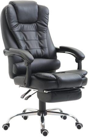 HOMCOM MESH HIGH BACK RECLINING EXECUTIVE OFFICE CHAIR WITH FOOTREST