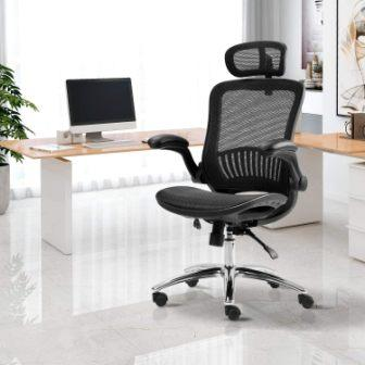 MERAX HIGH BACK RECLINING OFFICE MESH CHAIR WITH HEADREST
