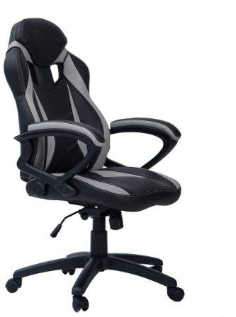 MERAX RACING STYLE EXECUTIVE PU LEATHER SWIVEL CHAIR WITH FOOTREST