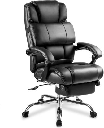 MERAX TECHNICAL LEATHER BIG TALL EXECUTIVE RECLINER NAPPING